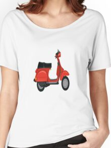 Vespa Scooter  Women's Relaxed Fit T-Shirt