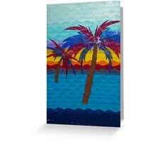 Tropical Waves     8x10 print  Tissue Paper Art from Paper Scenes by Alice Greeting Card