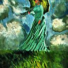 """Lady with umbrella by """" RiSH """""""