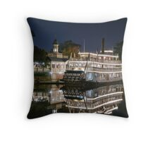 Paddle Steamer Throw Pillow