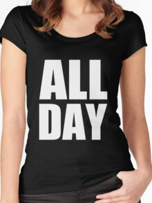 All Day - Kanye West (white) Women's Fitted Scoop T-Shirt