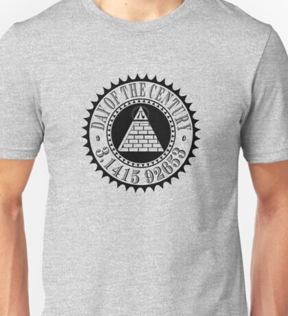 Pyramid Pi Day of the Century Illuminati Unisex T-Shirt
