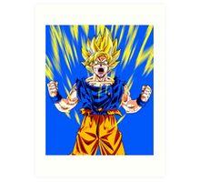 Goku Super Saiyan Spirit Art Print