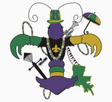 Mardi Gras Crawfish Fleur de Lis by StudioBlack