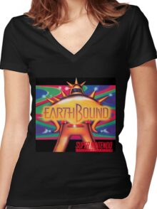 Earthbound & Down Women's Fitted V-Neck T-Shirt