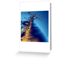 blue bubbles in 2D space Greeting Card