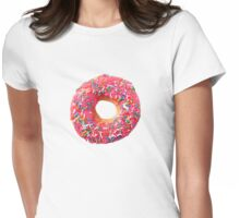 Pink Donut Womens Fitted T-Shirt