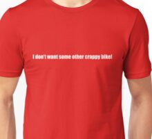 Pee-Wee Herman - Crappy Bike - White Font Unisex T-Shirt