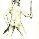 Autoportrait as a trojan warrior by Arzeian