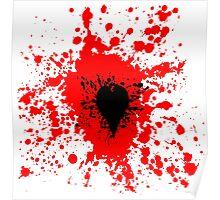Splattered Black Heart Poster