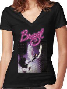 brazil film Women's Fitted V-Neck T-Shirt