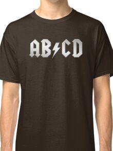 AB/CD (white on black) Classic T-Shirt