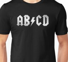 AB/CD (white on black) Unisex T-Shirt