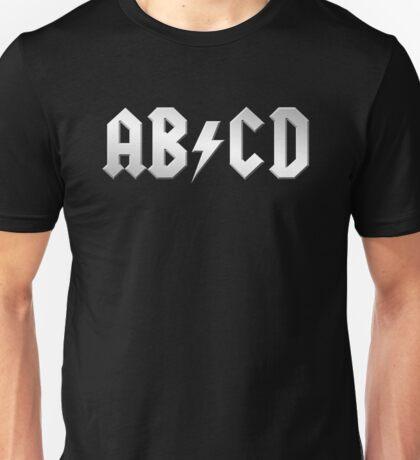 AB/CD (white on black) Unisex T-Shirt