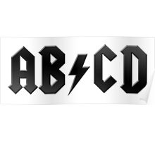 AB/CD (black on white) Poster
