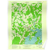 Maine USGS Historical Map Yarmouth 807334 1957 24000 Poster