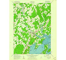 Maine USGS Historical Map Yarmouth 807334 1957 24000 Photographic Print