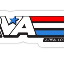 RVA - A Real Local Hero! USA Sticker