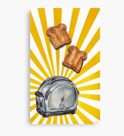 Toast and Toaster Canvas Print