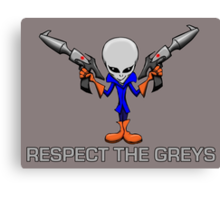 RESPECT THE GREYS Canvas Print