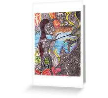 Once Upon A Dark Angel Greeting Card