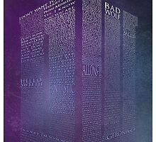 Doctor Who Tardis Typography by SkahfeeStudios