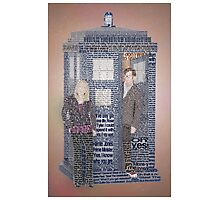 Doctor Who Tenth Doctor Typoraphy Art Photographic Print