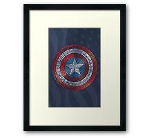 Captain America Typography Art Framed Print