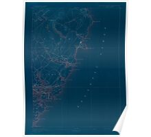 Maine USGS Historical Map York 306858 1893 62500 Inversion Poster