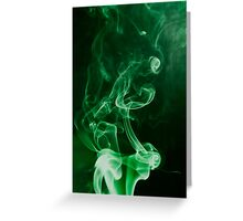 Weed Smoke Greeting Card