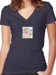 Pokemon Pikachu in Yolandi Visser from Die Antwoord costume Women's Fitted V-Neck T-Shirt