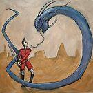 Dandan VS the Monstrous Land Eel by Mathew Reed