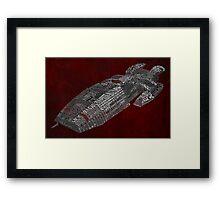 Battlestar Galactica Typography Art Framed Print