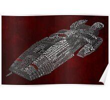 Battlestar Galactica Typography Art Poster