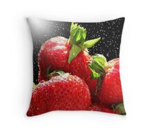 Backlit Strawberry Throw Pillow