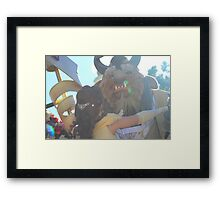 Beauty and Beast Sunflare Framed Print