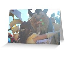Beauty and Beast Sunflare Greeting Card