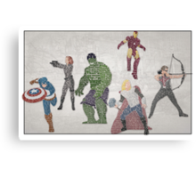 The Avengers Typography - Movie Quotes Canvas Print