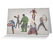 The Avengers Typography - Movie Quotes Greeting Card