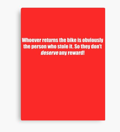 Pee-Wee Herman - Obviously The Person Who Stole it - White Font Canvas Print