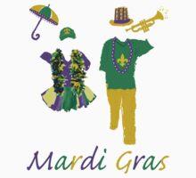 Carnival Time (Mardi Gras) One Piece - Short Sleeve