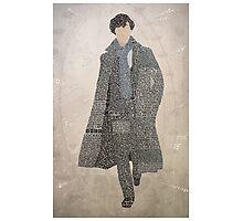 Sherlock Typography Photographic Print