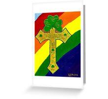 Shamrock Cross Greeting Card