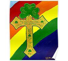 Shamrock Cross Poster