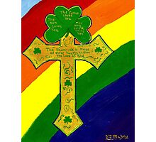 Shamrock Cross Photographic Print
