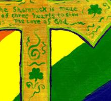 Shamrock Cross Sticker