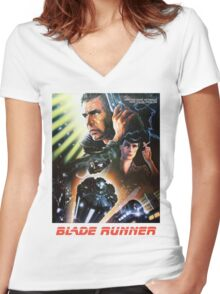 Blade Runner Movie Shirt! Women's Fitted V-Neck T-Shirt