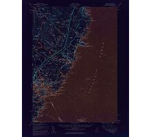 Maine USGS Historical Map York 306860 1956 62500 Inversion Photographic Print