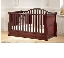 Comfortable BR Baby Oslo Sleigh Cot Bed for Babies by oneliving