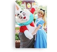 Alice and White Rabbit Canvas Print